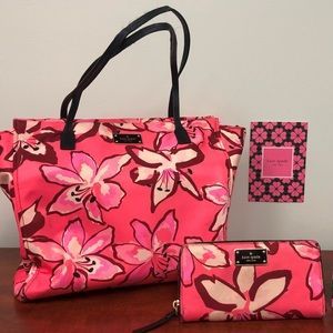 Kate Spade Floral Purse with Matching Wallett